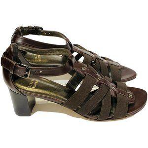 Stuart Weitzman Gladiator Sandals Size 7 Brown